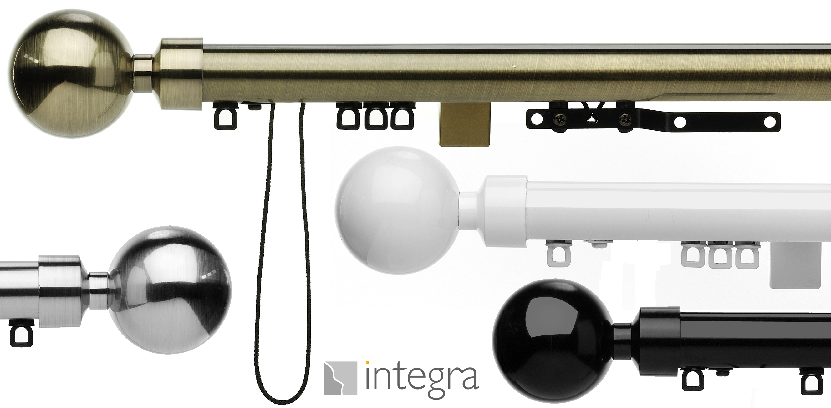 Integra Smooth Glide corded curtain pole
